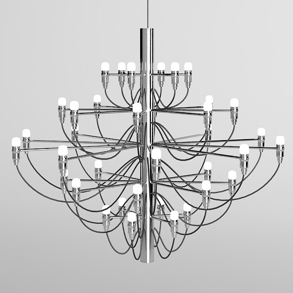 flos 2097 chandelier chrome modern contemporary hi tech .jpg